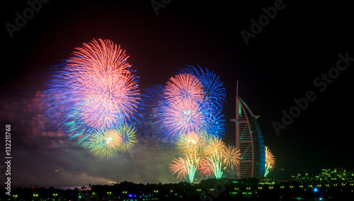 Photo  Dubai Fireworks