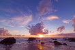 purple sea at sunset