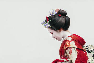 Portrait of Maiko geisha in...