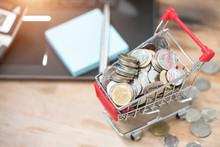 Money Concept Shopping Cart