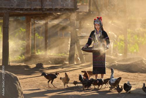 Fotografie, Obraz  Young ethnic Lao