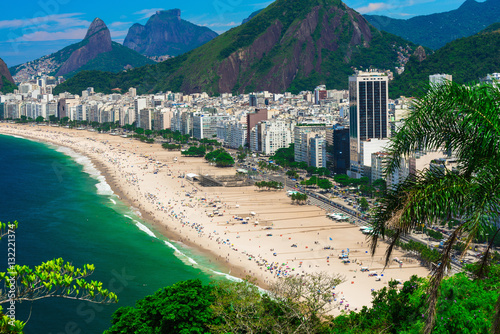 Recess Fitting Brazil Copacabana beach in Rio de Janeiro, Brazil. Copacabana beach is the most famous beach of Rio de Janeiro, Brazil