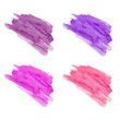 Set of hand drawn watercolor stains. Purple, pink, eggplant and magenta colors. Juicy and bright colors. It can be used for wrap, wallpaper, website, pattern, decor, print.