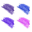 Set of hand drawn watercolor stains. Purple, pink, eggplant and blue colors. Juicy and bright colors. It can be used for wrap, wallpaper, website, pattern, decor, print.