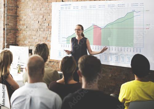 Fototapeta Business Graph Measurements Data Presentation Concept obraz