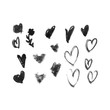 Ink hearts for valentines design creation
