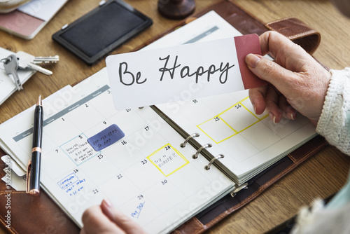 Photo  Enjoy Life Daily Planner Concept