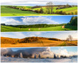 canvas print picture - Four season collage from horizontal banners
