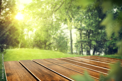 Photo sur Aluminium Jardin table background and spring time