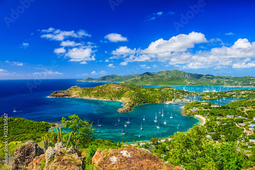 Acrylic Prints Dark blue Shirley Heights Antigua