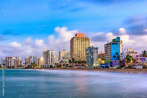 Photo Stands Caribbean San Juan Beach Skyline