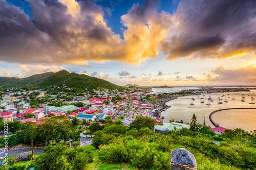 Cadres-photo bureau Caraibes Marigot St. Martin Skyline