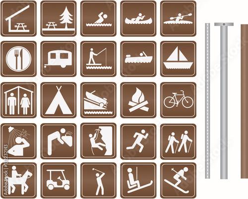 Fotografia  Parks and Recreation Icon set