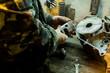 Repair of motorcycle engine in the garage