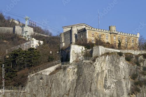 In de dag Vestingwerk La Bastille de Grenoble