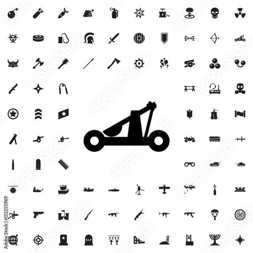 Foto catapult icon illustration