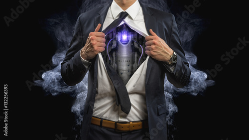 business cyborg Canvas Print