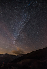 Milk way as seen from Forca d'Acero, Italy