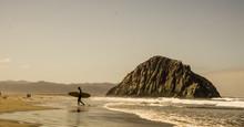 Surfer At Morro Bay Beach