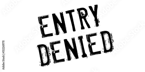Entry Denied rubber stamp Canvas Print