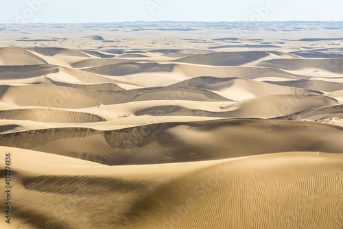 Aerial view with sand dunes on Maranjab Desert in Iran Canvas Print