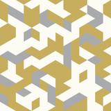 Bezszwowe złoty wzór geometrycznych kształtów - 132277343