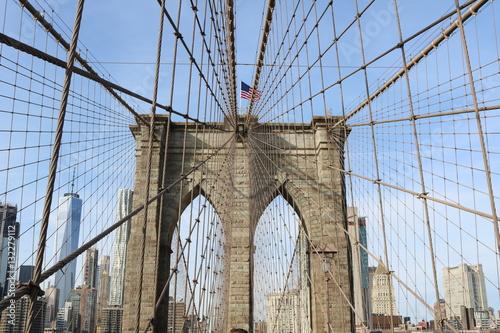 Foto op Canvas Brooklyn Bridge Strings