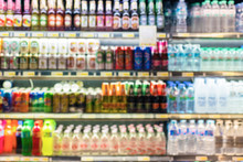 Defocused Blur Of Supermarket ...