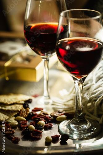Poster de jardin Bar red wine