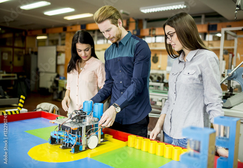 Young People In Robotics Classroom Buy This Stock Photo And