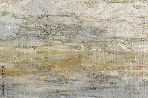 Abstract oil painted texture on canvas. Canvas Print