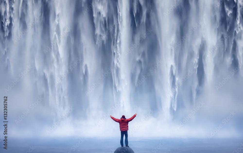 Fototapeta Mand and Nature II - ICELAND