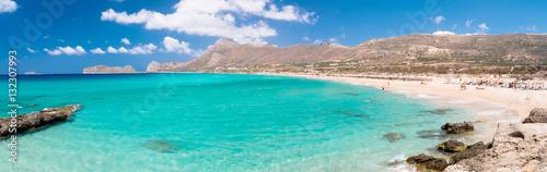 Vászonkép Beautiful Falassarna lagoon on Crete, Greece