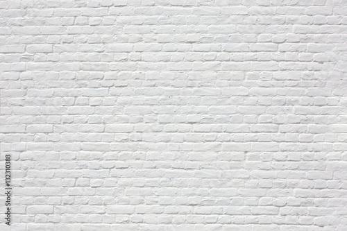Mur en briques blanches Fototapet