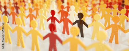 Fotografie, Obraz  digital people - Network concept - 3D rendering