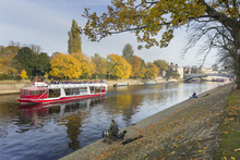 Autumn Along The River Ouse In City Centre, York, Yorkshire