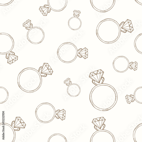 Cotton fabric Pattern from the diamond ring.
