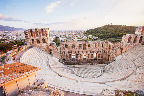 Recess Fitting Athens The Odeon Herodes Atticus theatre near Acropolis in Athens, Greece