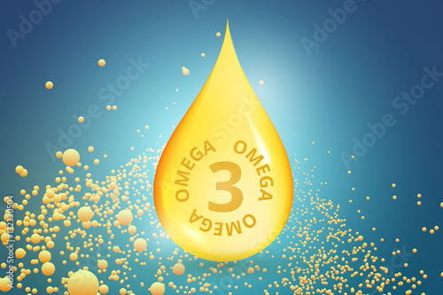 Valokuva  Gold drop of Omega 3