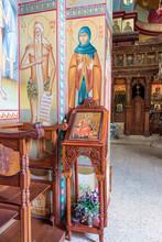 Interior Of Greek Orthodox Monastery Of Twelve Apostles In Caper