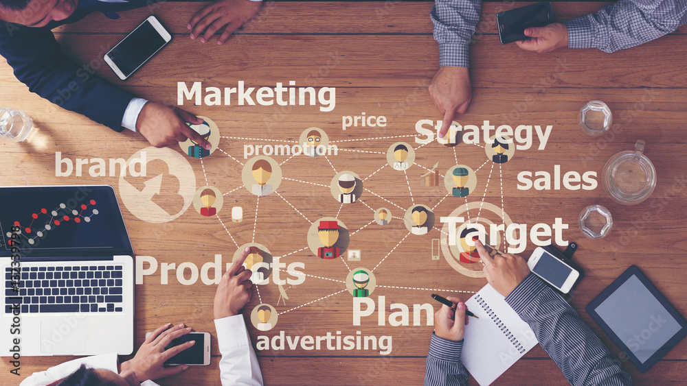 Fototapety, obrazy: Marketing Commercial Advertising Plan Concept