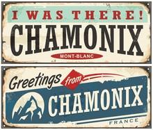 Chamonix Mont Blanc Retro Souv...