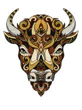 Bison Head, Illustration