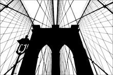 Brooklyn Bridge Silhouette Vec...