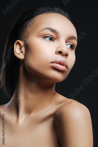 Fotografie, Obraz  Cute nice woman craning her neck