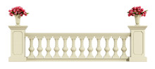 Classic Balustrade Isolated On...