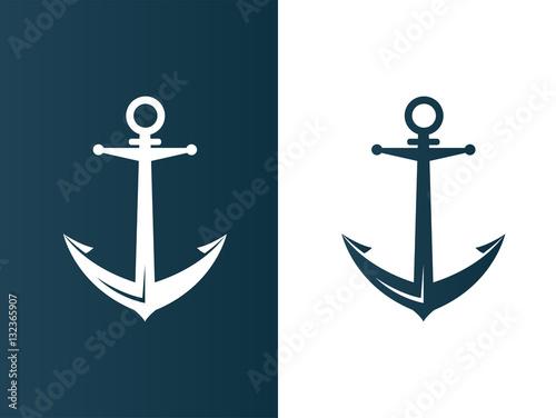 Fotografia, Obraz Anchor business modern logo silhouette ship - isolated vector illustration