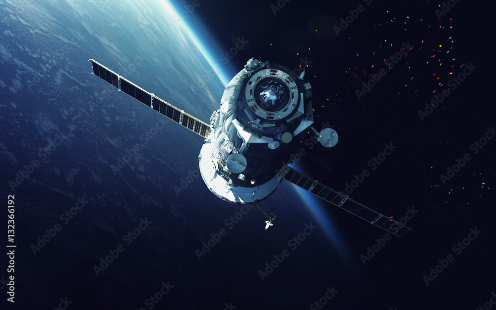 Fototapety, obrazy: Spacecraft. Cosmic art, science fiction wallpaper. Beauty of deep space. Billions of galaxies in the universe. Elements of this image furnished by NASA