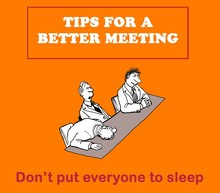 Color Illustration About Tips For A Better Meeting -- Don't Put Everyone To Sleep.