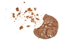 Chocolate Gingerbread Cookie On White Background